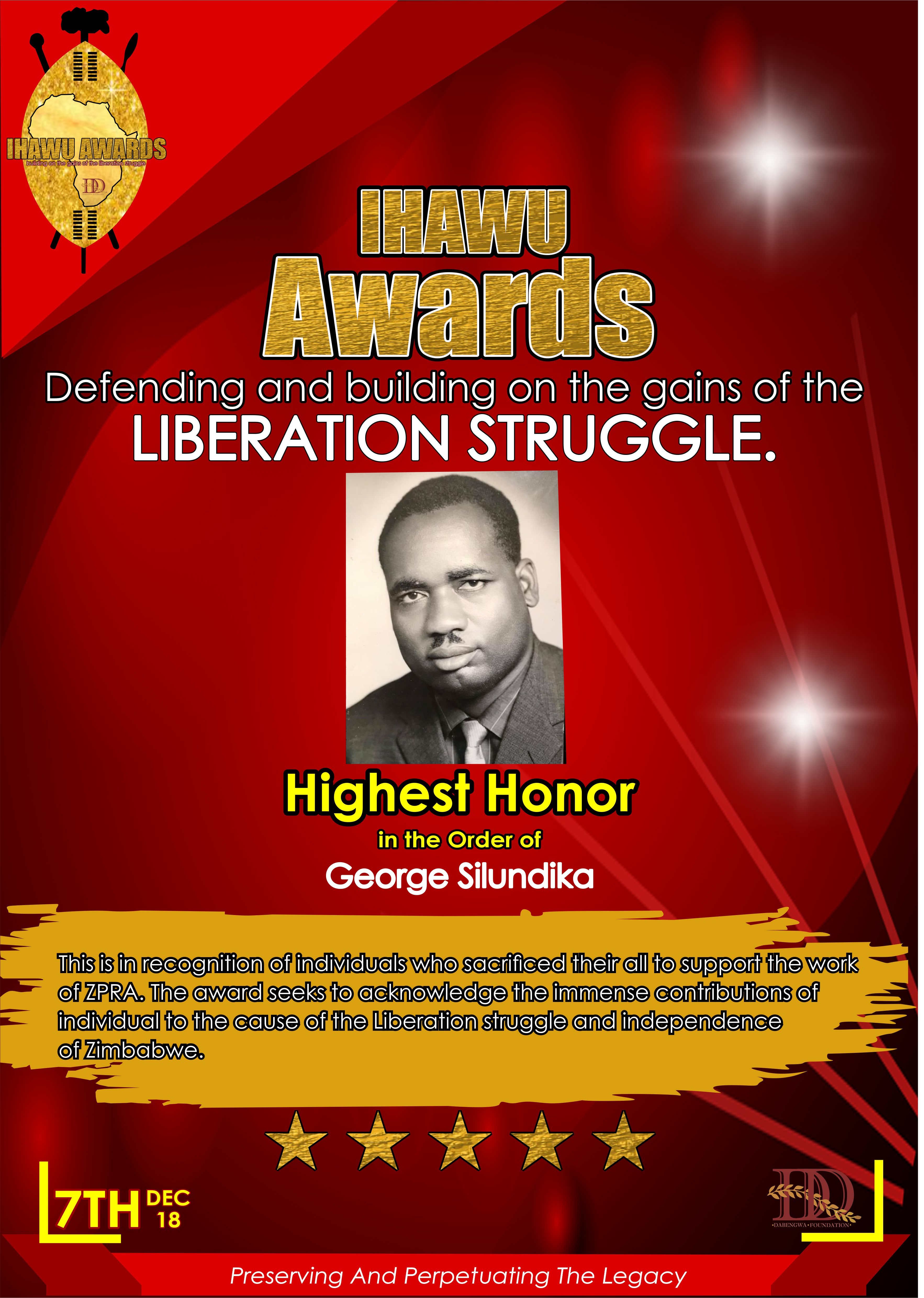 The Dumiso Dabengwa Foundation is launching a recognition award.