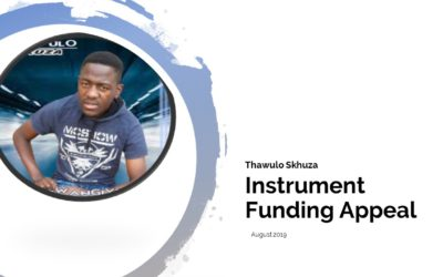 Instrument Funding Appeal for Thawulo Skhuza, a most talented artist!